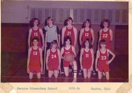 I am #23 the kid on the bottom right, this is the 7th grade boys BB team.